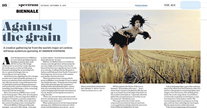 2015.09.12 - Against the grain - The Age (digital) - Web