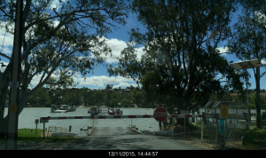 What was to be the first of many crossings at Mannum.